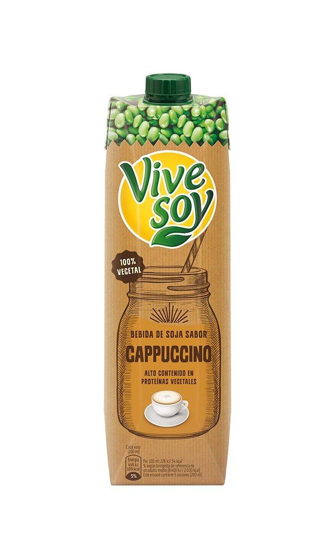 Vivesoy Bebida de Soja Cappuccino - Paquete de 6 x 1 L - Total: 6 L: Amazon.es: Amazon Pantry