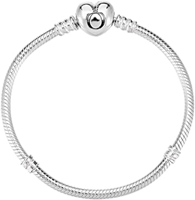 PANDORA Moments Silver Charm Bracelet with Heart Clasp 590719 (19)