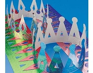 Amazon.com: 12 surtidos prismático Lámina coronas para niños ...