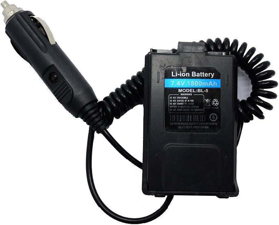 Baofeng Accesorio de Coche 12V DC Eliminador De Batería BL-5 ...