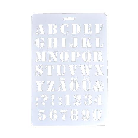 Puran Plantillas De Letras Huecas Con Numero De Alfabeto Para