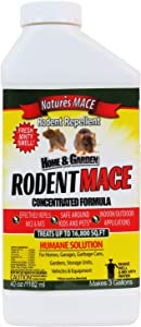 Nature's Mace Rodent Repellent 40oz Concentrate/Covers 16,800 Sq. Ft. / Repel Mice & Rats/Keep mice, Rats & Rodents Out of Home, Garage, attic, and Crawl Space/Safe to use Around Children & Pets