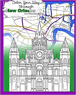 Amazon Color Your Way Through New Orleans Adult Coloring