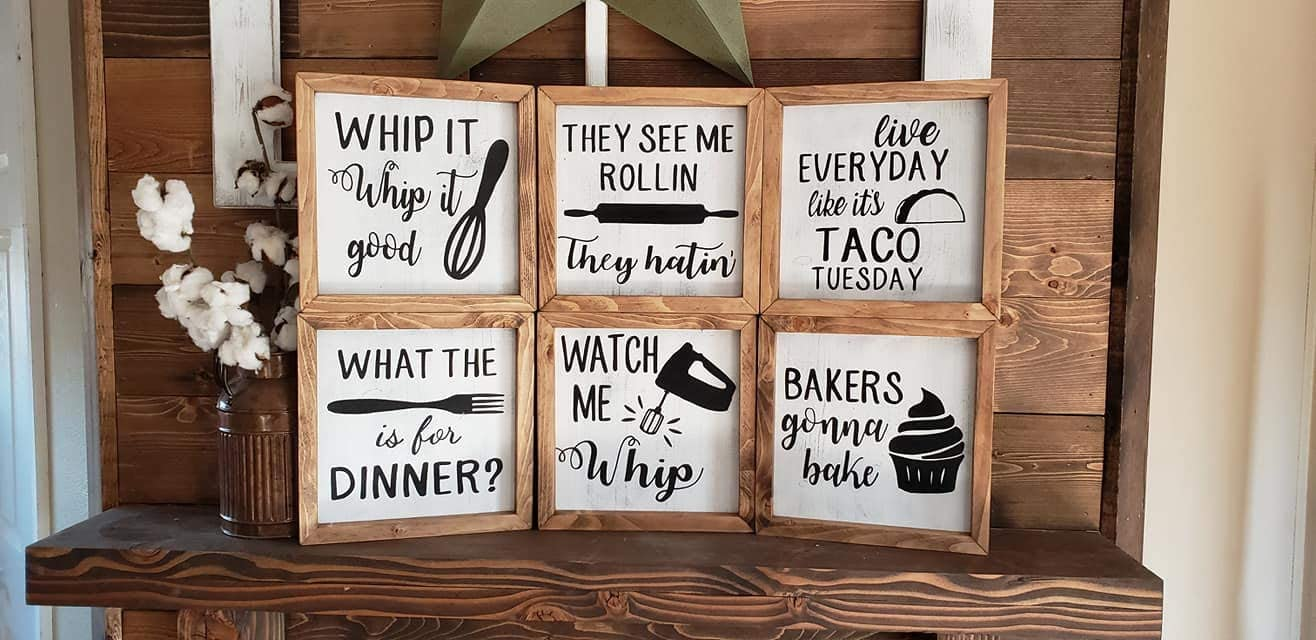 Judy12Bart Wooden Kitchen Sign - Wood Funny Kitchen Signs