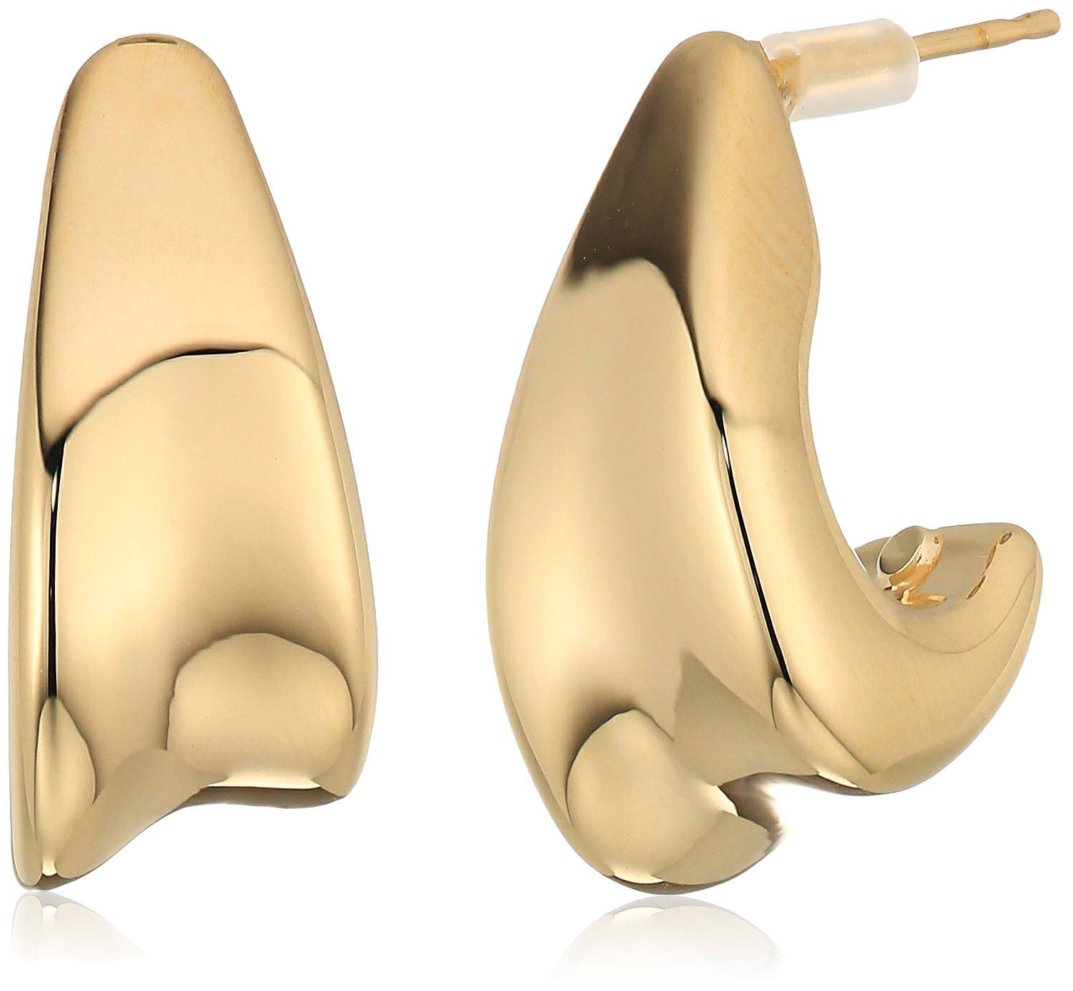 14k yellow gold j eletroform hoop earrings