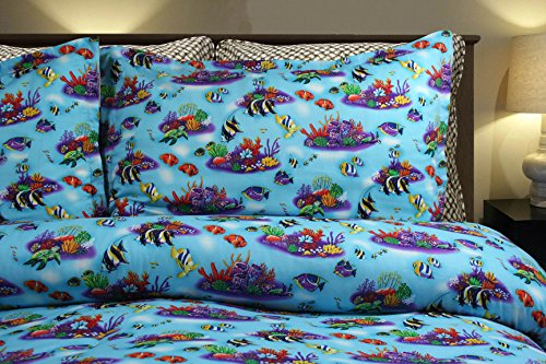 Under the Sea Bedding Mini Set By Dean Miller, Twin Comforter & Pillowcase by Dean Miller Surf Bedding