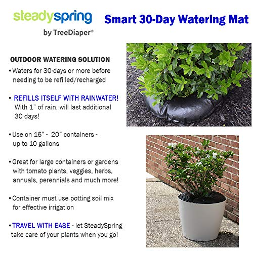 SteadySpring Smart 30-Day Watering Mat for Tomato Plants, Peppers, Veggies, Perennials, Annuals - Self-Fills with Rain (4) by Smart Spring (Image #6)