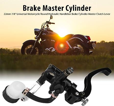 Keenso Hauptbremszylinder Vorne 22mm 7 8 Universal Motorrad Runder Hydraulischer Bremszylinderhauptkupplungs Bremshebel Vorne Rechts Auto