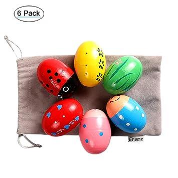 Plastic Percussion Musical Egg Maracas Shakers Children Kids Toys Fun Gift##