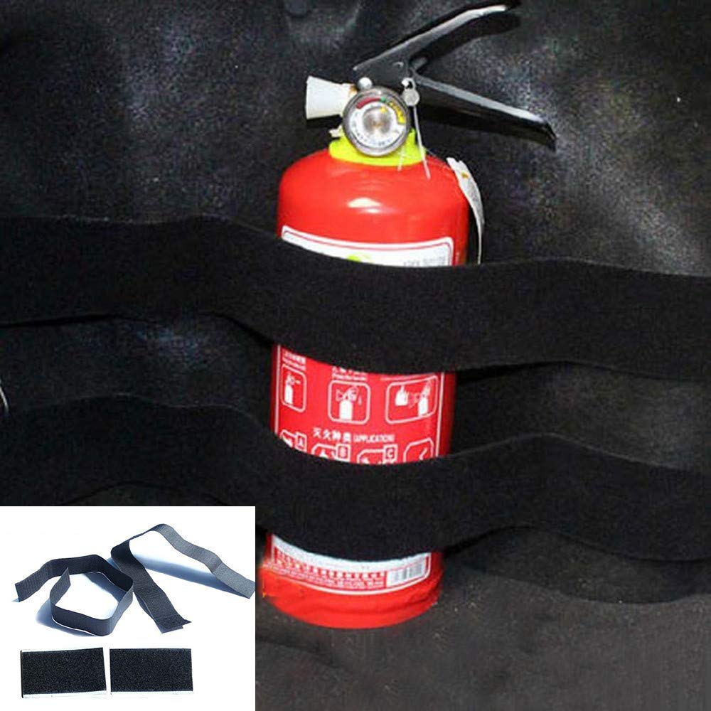 Creazy 2pcs Car Trunk Store Content Bag Rapid Fire Extinguisher Holder Safety Strap Kit