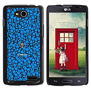 ROKK CASES / LG OPTIMUS L90 / D415 / CUTE - BE DIFFERENT / Delgado Negro Plástico caso cubierta Shell Armor Funda Case Cover
