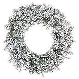 Vickerman 498583 - 48'' Flocked Kiana Christmas Wreath (K173547)