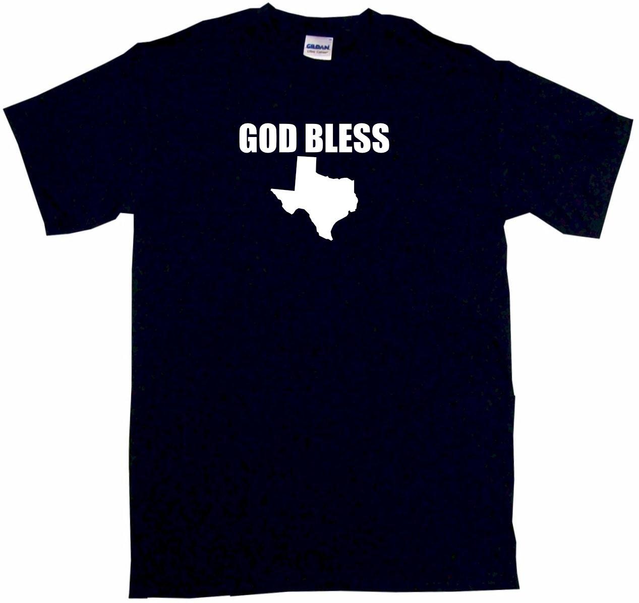 God Bless Texas Silhouette Little Boy's T Shirts