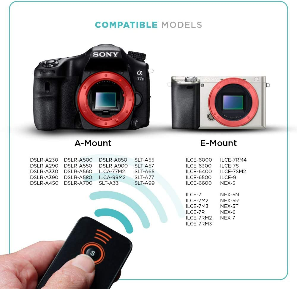 FotoTech IR Wireless Shutter Release Remote Control for Sony Alpha ...