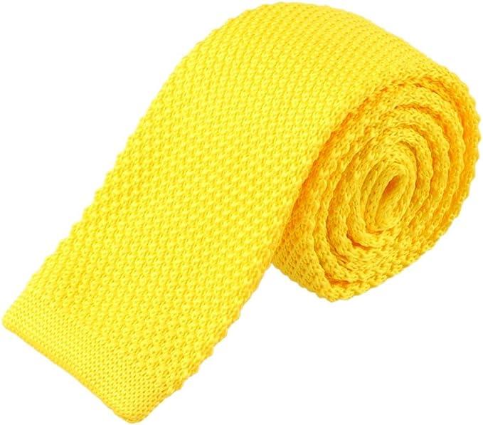 Rawdah Hombres de moda de punto de punto corbata corbata estrecha ...