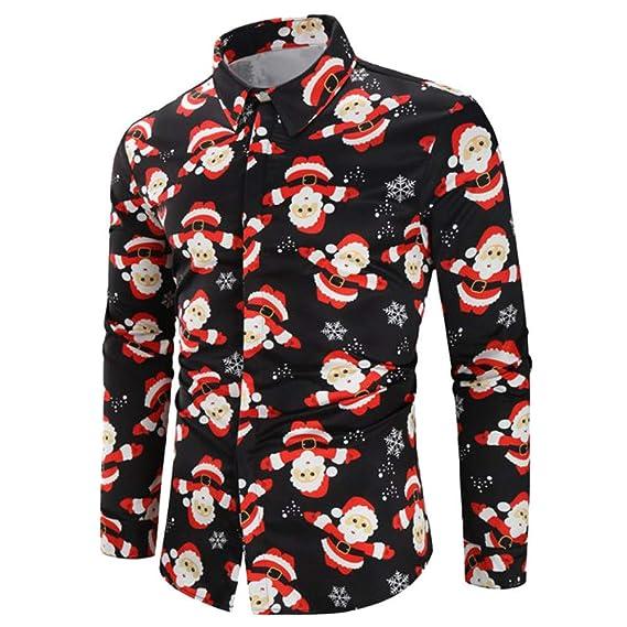 Camisa Impresa 3D de Dibujos Animados navideños de Hombre Explosivo, Top, Chaqueta(Negro