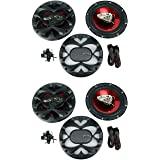 """4 New BOSS CH6530 6.5"""" 3-Way 600W Car Audio Coaxial Speakers Stereo Red"""
