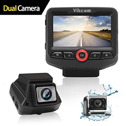 Amazon Com Vikcam Dual Dash Cam Car Camera Recorder 1080p Full