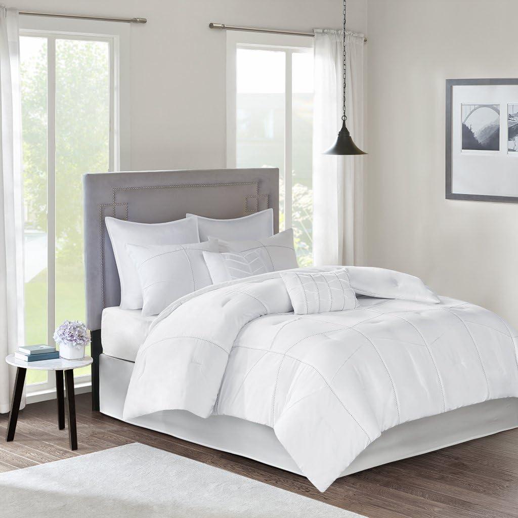 Grey 510 Design Ciera Ultra Soft Microfiber Ruched Bed Comforter Set Cal King Size King King
