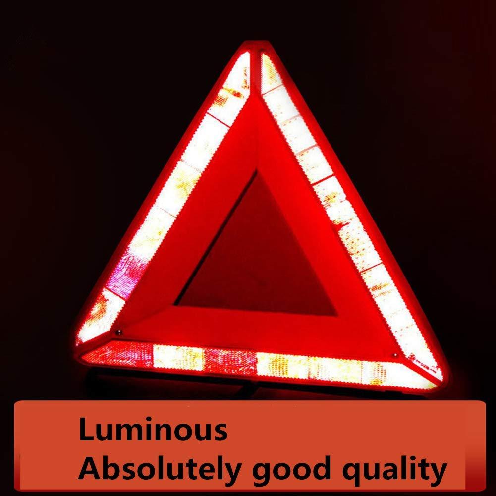 3PCS Reemky Faltbares Warndreieck LED-Sicherheitsauto//Stra/ßenrandreflektierendes Notdreieckreflektor-Blinklicht