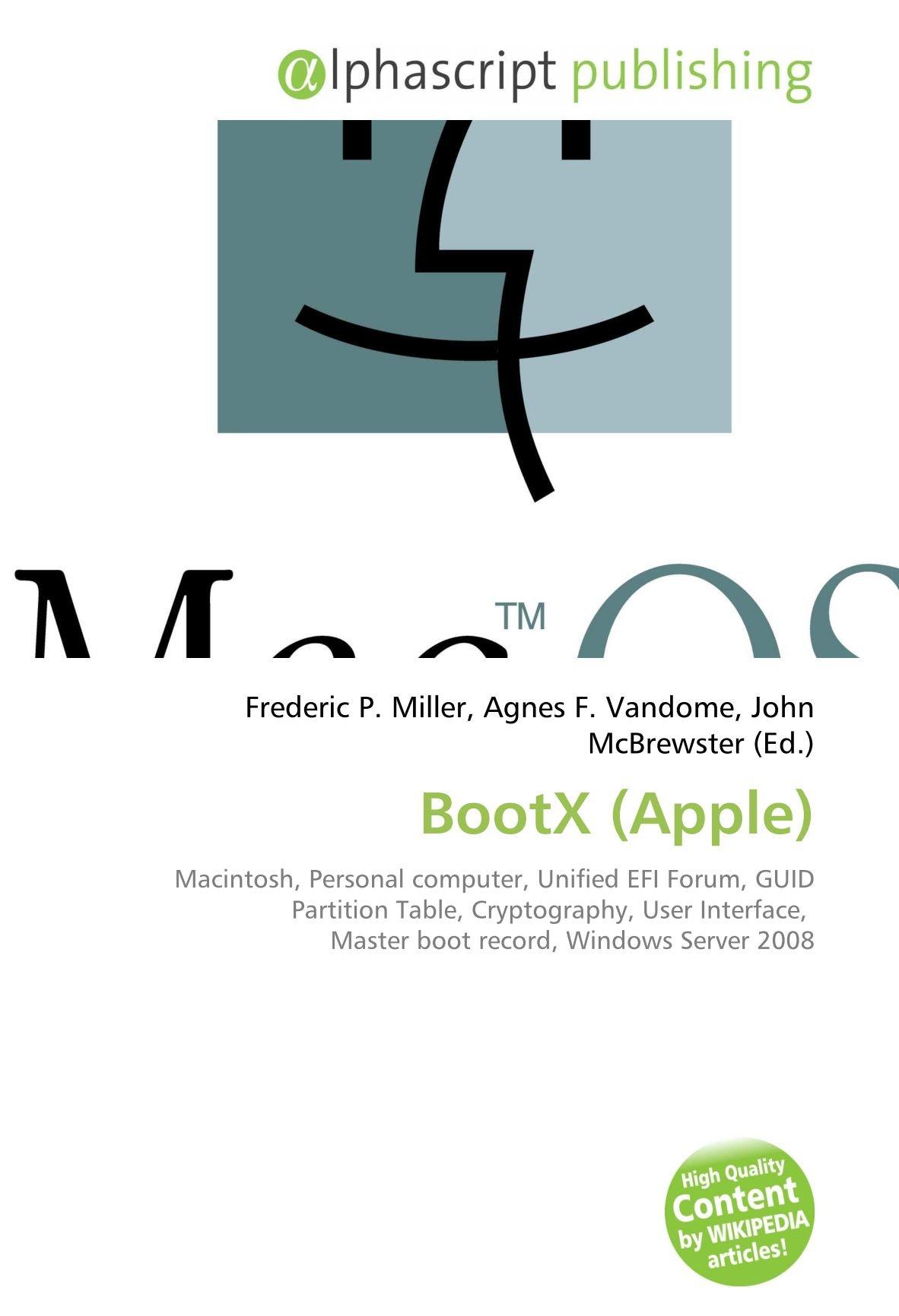 Bootx (Apple): Amazon.es: Miller, Frederic P, Vandome, Agnes F ...