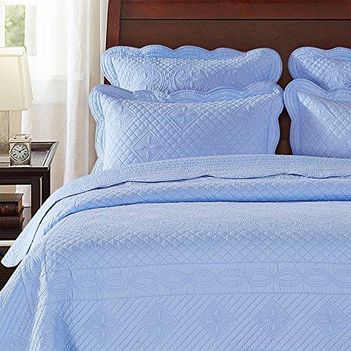 light blue pillow shams - 5