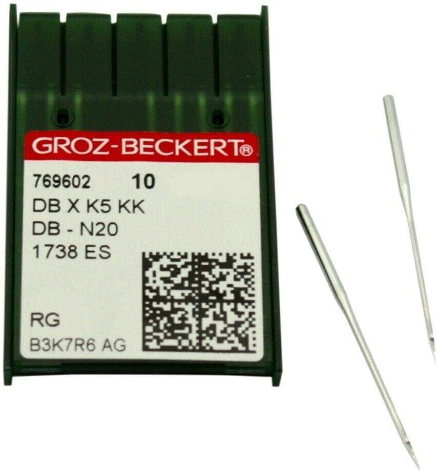 10Pk. Groz-Beckert Dbxk5 Kk Embroidery Needles für 3D Embroidering-Size 90/14