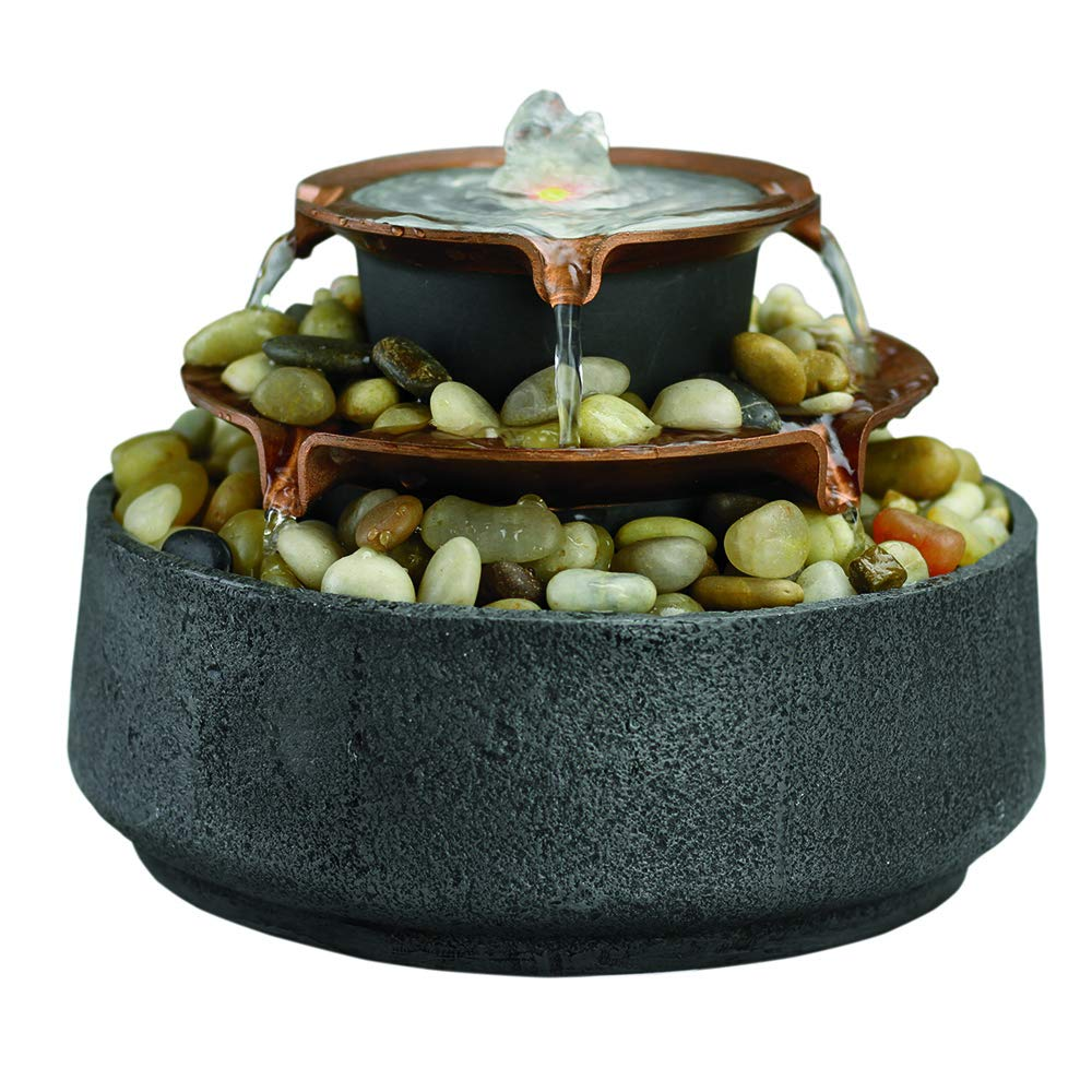Homedics Tide Relaxation Tabletop Fountain, Grey