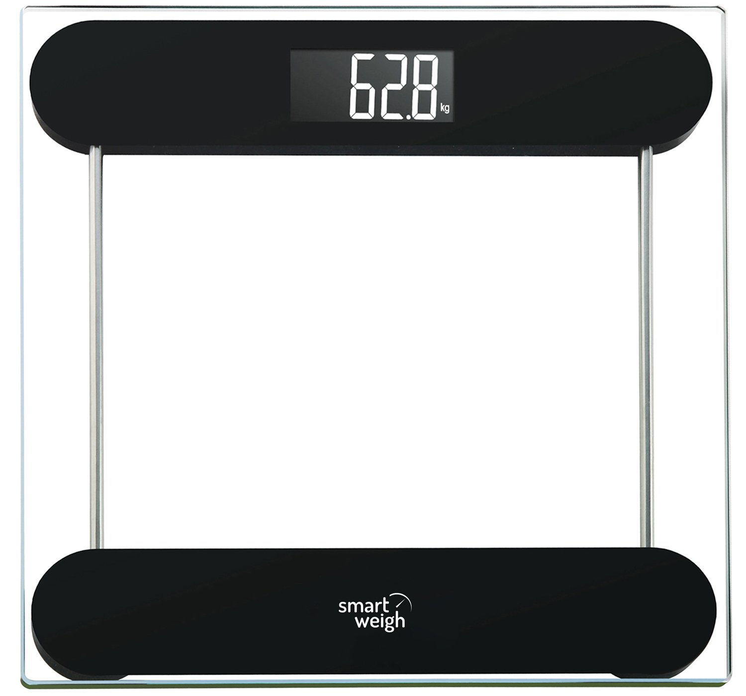 Smart Weigh Precision Digital Vanity/Bathroom Scale, Smart Step-On Technology, Tempered Glass Platform and Large Backlight Display