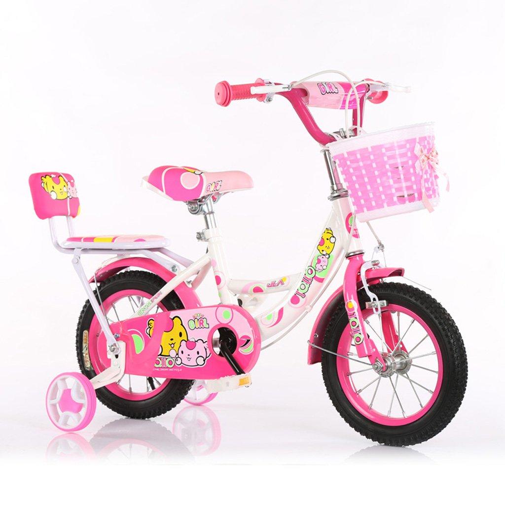 子供用自転車3-5歳子供用自転車14インチ用赤ちゃん用自転車ハイカーボンスチールベビーキャリッジ、ピンク/青/緑 (Color : Pink) B07CXPZQTY