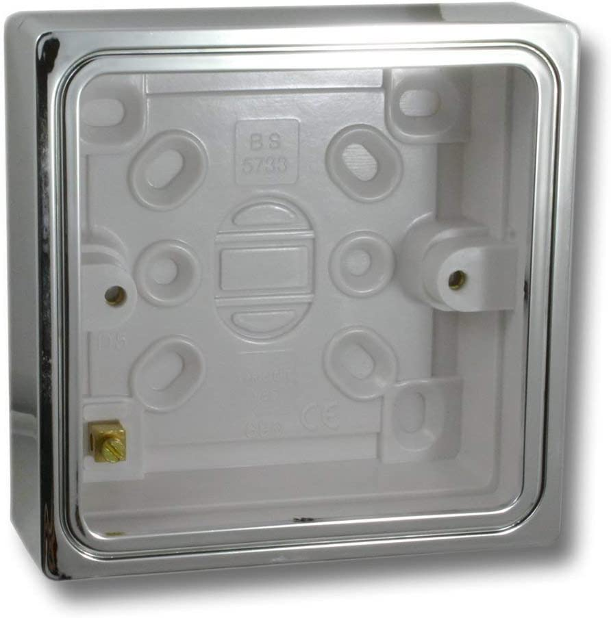 Caja de enchufe simple para montaje externo, efecto cromo Varilight YBSC