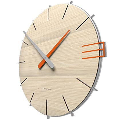 Calleadesign - Orologio da parete Mike, rovere decapé: Amazon.it ...