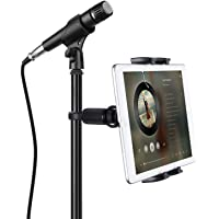 Tablet Mounts for Microphone Stands, JUBOR Microphone Tablet Holder, Mic Music Stand for iPad, iPad Pro, iPad Air, iPad…