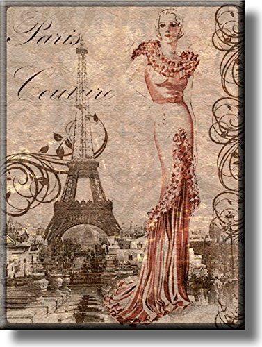 Paris Couture Fashion Picture on Acrylic , Wall Art Décor, Ready to Hang