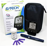 Medidor de Glicose G Tech Free Lite - Kit Completo MAIS 3 Caixas de Tiras com 50 unidades