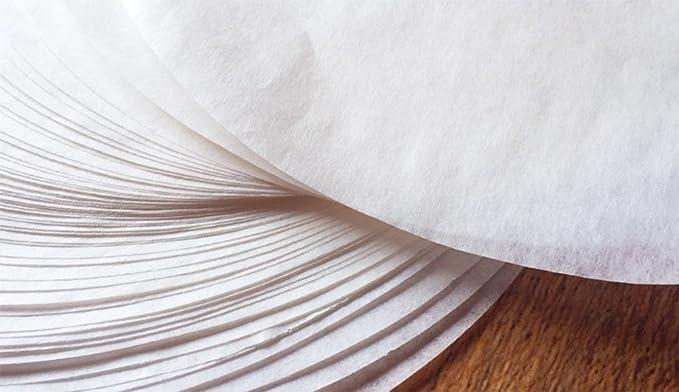10 pouces Kentop 100/pcs Non-Stick Round Baking Parchment Circles Paper Parchment Sheets PRE-Cut Cooking Steamer Paper White Air Fryer Liner Baking Cake Paper Pan/ 25.5cm 10 Pouces /6/inch//15/cm