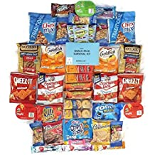 Crackers Chips Cookies & Candies Snacks Variety Snack Pack Sampler Assortment Care Package 40 Count