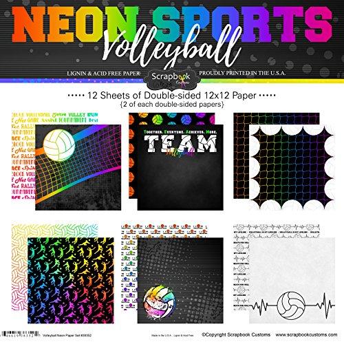 Volleyball Scrapbooking - Scrapbook Customs Volleyball Neon Scrapbook Kit