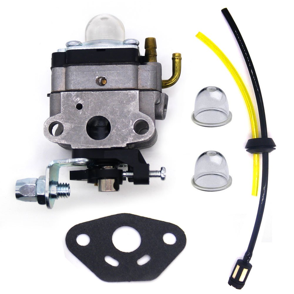 FitBest Carburetor with Fuel Line kit for Honda GX31 GX22 FG100 Little Wonder Mantis Tiller TB26TB TB475SS Troy-BILT Gas Trimmer