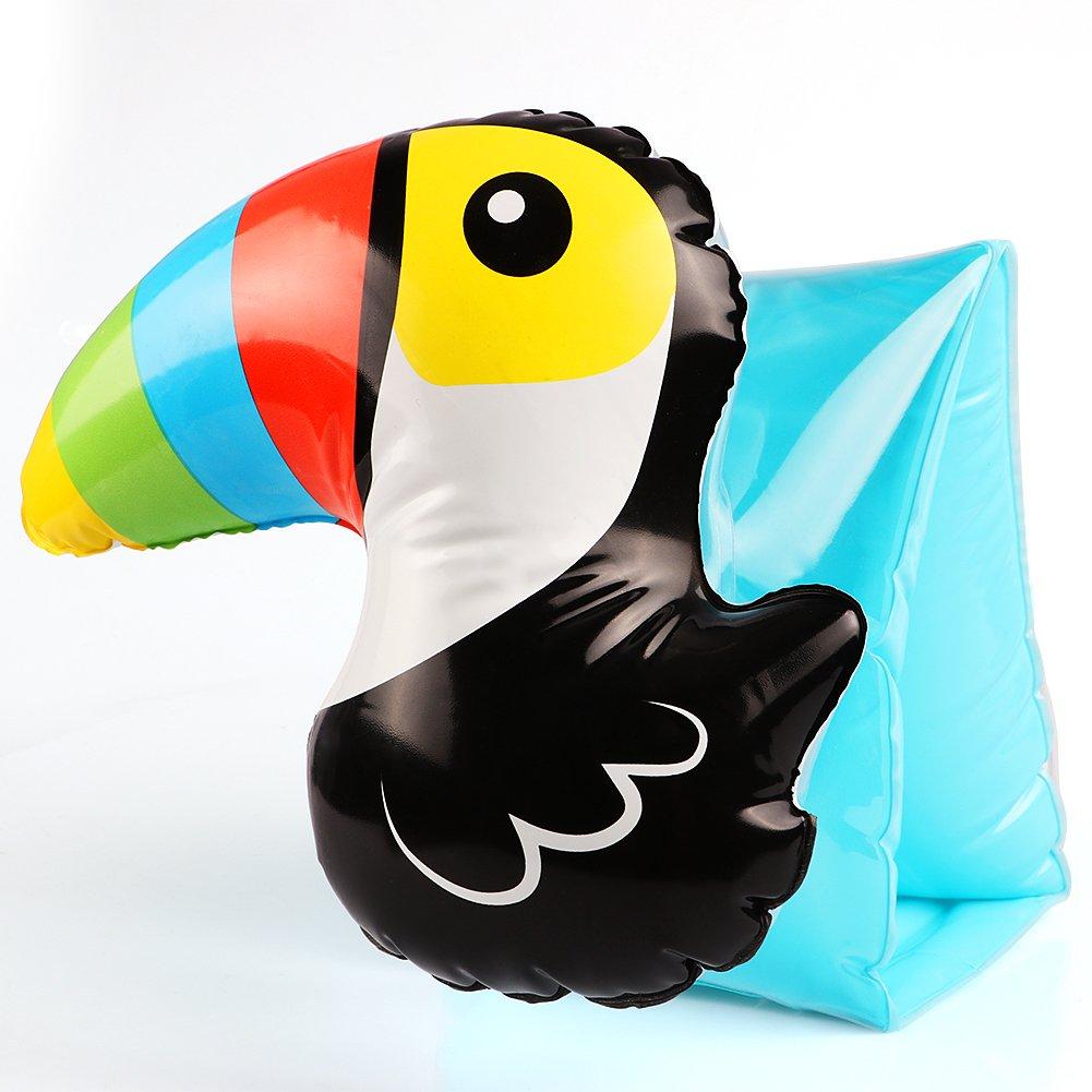Tacobear 2 Pares Hinchables Manguitos 3D Flotador Manguitos Bebes Niños para para Aprender a Nadar Actividades de Playa Piscina (Tucán y Piña): Amazon.es: ...