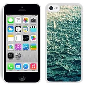 Fashionable Custom Designed iPhone 5C Phone Case With Sea Rain Water_White Phone Case