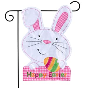 "Briarwood Lane Easter Bunny Applique Garden Flag Holiday Sclupted 12.5"" x 18"""