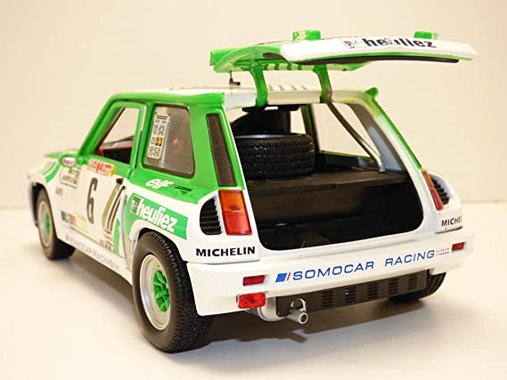 Amazon.com: Solido 1/18 Scale Model Car - S1801303 Renault 5 RS Turbo Gr.B Rallye de Lozere: Toys & Games