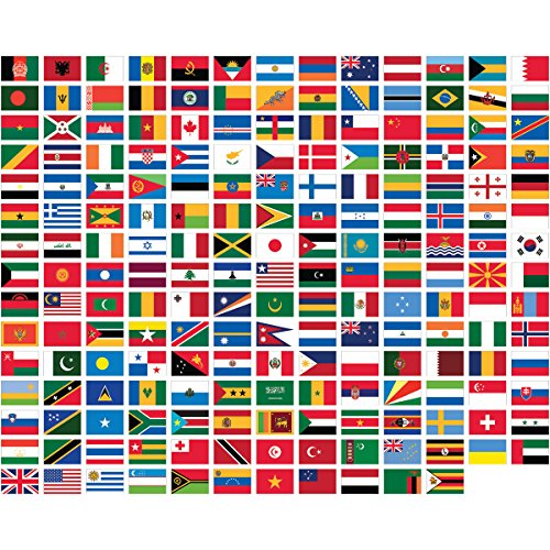 UNITED NATIONS 3' x 5' Polyester WORLD FLAG SET-194 Polyeste