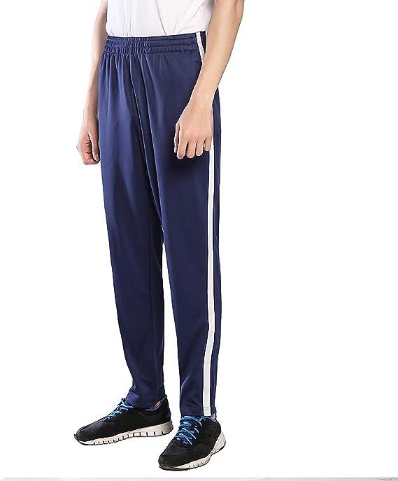 Ogeenier Hombre Poliéster Deportivos Pantalones de Jogging con ...