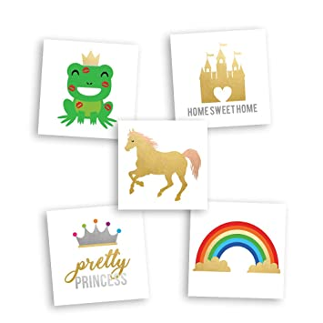 ac84c09779c33 Fairy Princess Variety Set includes 25 assorted premium waterproof colorful  metallic kids temporary foil magical Fun