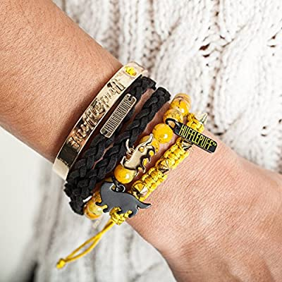 hot Bioworld Harry Potter House Bracelet Gift Set (Hufflepuff) on sale