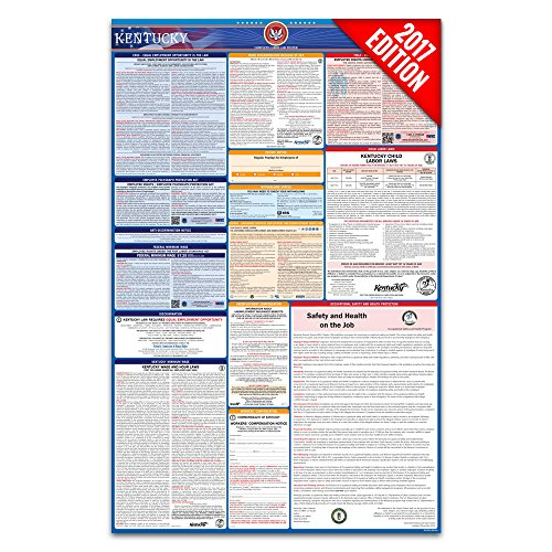 2017 Kentucky Labor Law Poster – State & Federal Compliant – Laminated