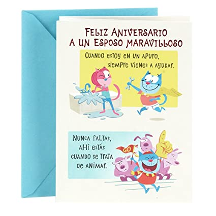 Amazon hallmark vida spanish anniversary greeting card for hallmark vida spanish anniversary greeting card for husband anniversary husband m4hsunfo