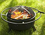 Merax 30 Inch Outdoor Stars and Moons Fire Pit Fire Bowl (Black) Review